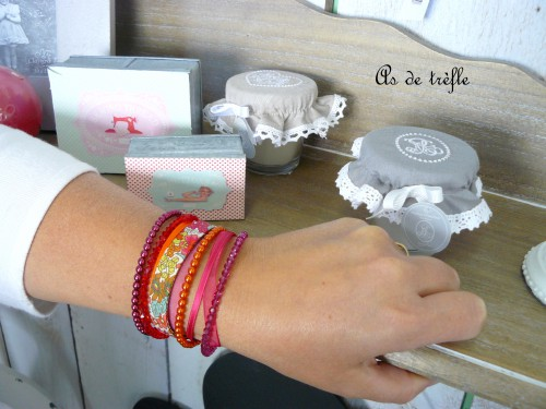 annabel,bracelet,as de trèfle,liberty,ruban