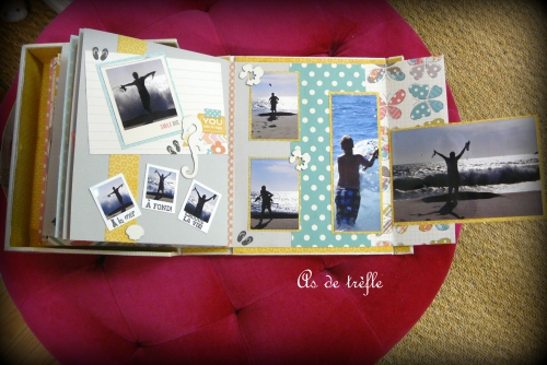 annabel,as de trèfle,album scrap,valisette,valise,vacances