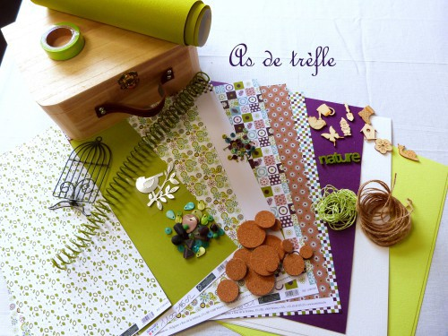 atelier scrap,fouilleul,artemio,annabel,as de trèfle,printemps,valisette