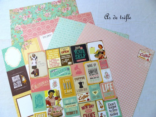 mme,simple stories,papiers scrap,as de trèfle,annabel,ecole,kaisercraft