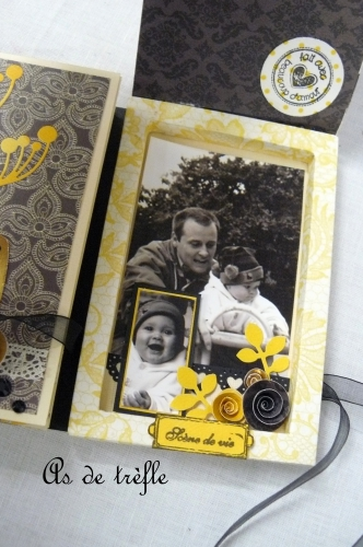 annabel,as de trèfle,album scrap,authentique,beauty,collection papier jaune et noir,tuto