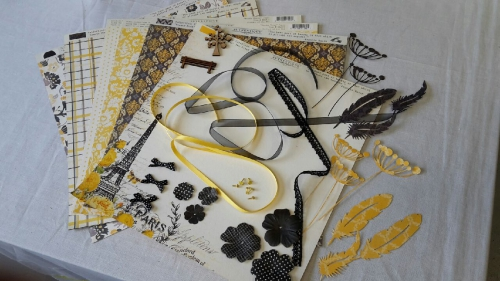 kit scrap,kit été,kaisercraft,my mind's eyes,mini album,annabel,as de trèfle