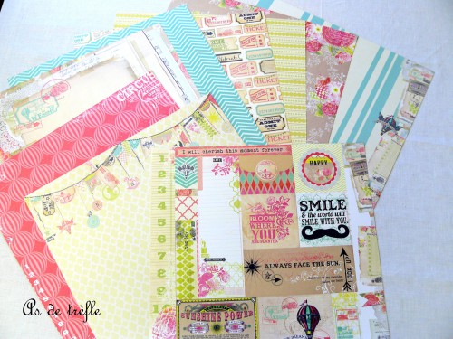 mme,simple stories,papiers scrap,as de trèfle,annabel,ecole