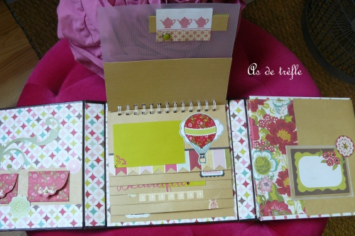 as de trèfle,annabel,album scrap,scrapbooking,bo bunny,skivertex,marron