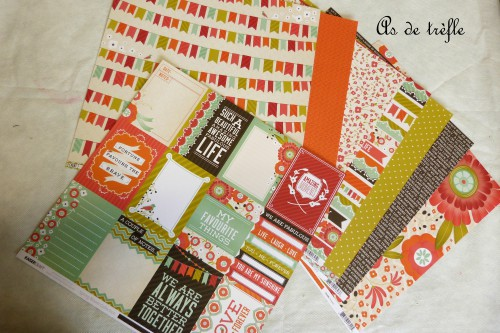 as de trèfle,annabel,spring bloom collection,kaisercraft,album scrap tissu, orange