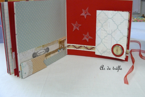 album scrap noel,annabel,as de trefle, papiers noel,fetes,photos,boite artemio,mme,all is bright