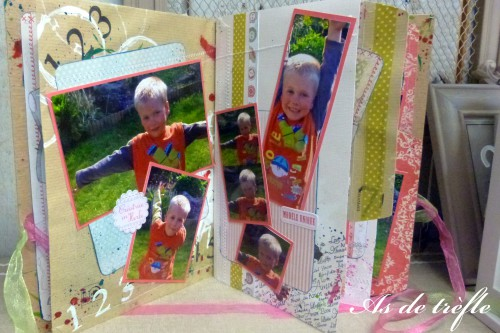 album scrap,mini album,scrapbooking,amour,toga,annabel,as de trèfle
